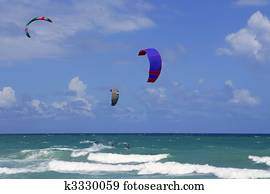 Kite surf water sports in Florida Miami beach