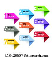 Numbers set infographics elements