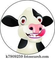 Cow cartoon head