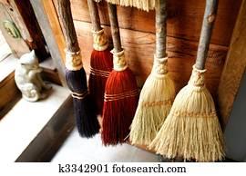 Handmade Straw Broom