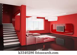 Interior of apartment 3d