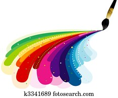 Painting Rainbow Colors