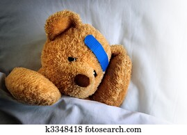 Stock photo of sick teddy bear k1344243 search stock images sick teddy altavistaventures Gallery