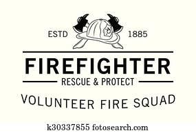 Volunteer fire squad : Firefighter