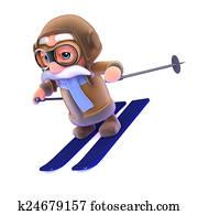 3d Pilot skiing