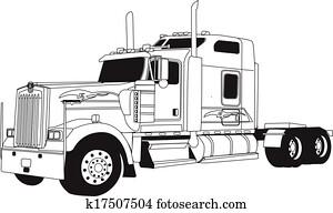 kenworth, lastwagen