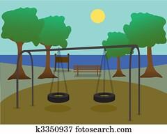 Park with playground