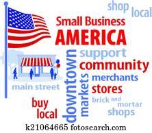 Small Business America, USA Flag