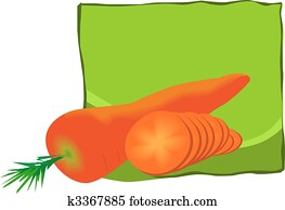 carrots with it's leaves