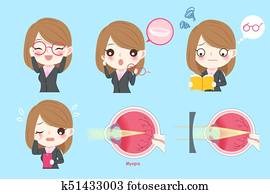 woman with eye health