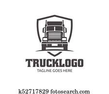 lastwagen, logo,, ladung, logo,, auslieferung, ladung, trucks,, logistisch, logo