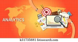 analytics, daten, von, website, und, bekommen, verkehr