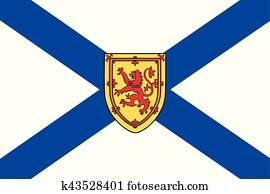 fahne, von, neuschottland, provinz, Canada., vektor, format