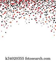 Red Black Confetti Cover