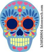 Sugar Skull flat