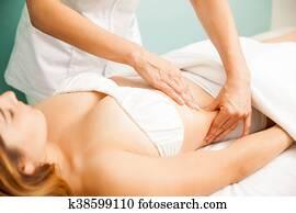 Woman getting a lymphatic massage