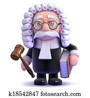 3d Judge holds a gaval and book