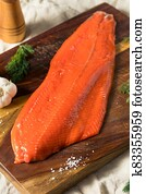 Raw Organic Wild Salmon Filet