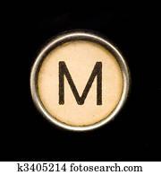 Typewriter letter M
