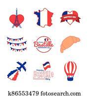 bundle of bastille day icons