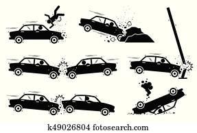 Car Accident and Crash.