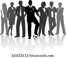 football, mitarbeitergruppe