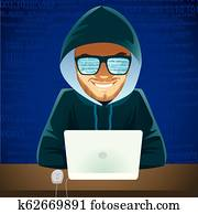 Hacker Laptop Cyber Criminal