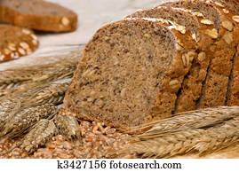 whole-grain, bread, und, getreide