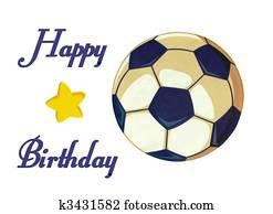 Clip Art Fussball Ball Alles Gute Geburtstag Abbildung Bestand
