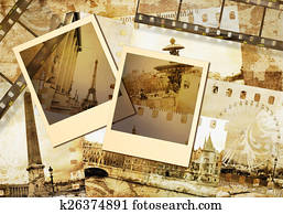 old photoalbum -Paris