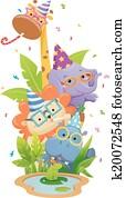 Safari Animals Birthday Party