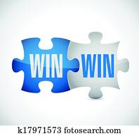 win win puzzle illustration design