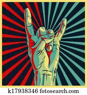 hand, in, wiegen n-rolle, zeichen