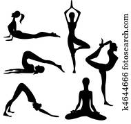 Yoga silhouette - vector