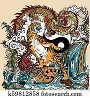dragon versus tiger yin yang