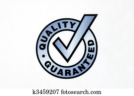 Quality guaranteed sign isolated on the white background