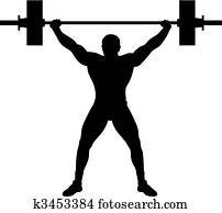 Weight lifter athlete