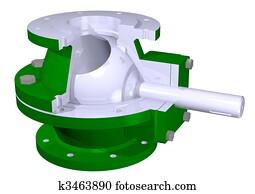 Ball valve illustration