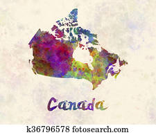 Canada in watercolor