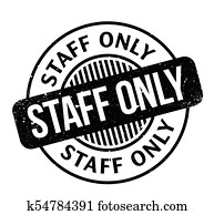 clip art of staff only rubber stamp k42337969 search clipart