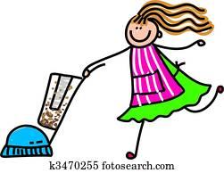 vacuuming mum