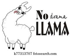 crazy llama and letters