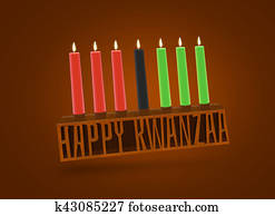 Happy kwanzaa symbol design illustration on brown background. Re