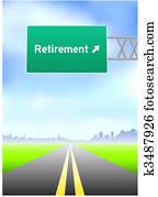 Retirement Highway Sign