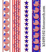 4th of July Patriotic borders