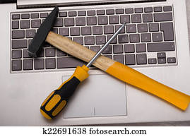 Computer repair concept