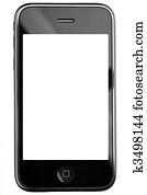 modernes, berührungsbildschirm, telefonger?t