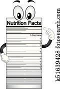 Nutrition Facts Mascot Illustration