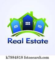 real estate, begriff, design