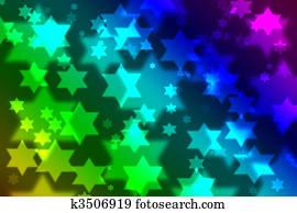 Jewish star celebration background bokeh